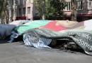 Sase vehicule OSCE, incendiate in Donetk