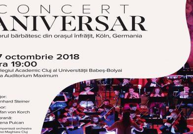 Concert aniversar la Cluj-Napoca al corului barbatesc din orasul infratit Köln