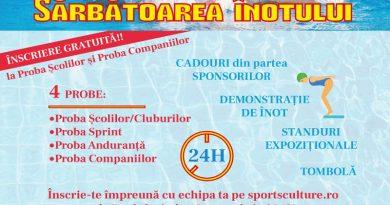 Sarbatoarea inotului, organizata la Cluj in 3 – 4 noiembrie 2018