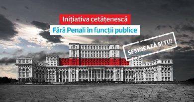 """CCR: Initiativa """"Fara penali in functii publice"""", constitutionala"""