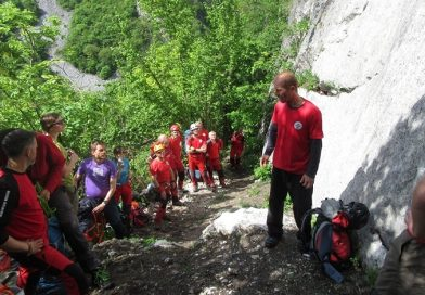 Salvamontisti la antrenament in Cheile Turzii